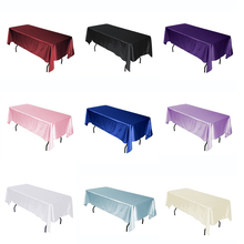 Satin Tablecloth Rectangular Hotel Banquet Table Cloth Cover for Rectangle Wedding Table Covers Home Decoration Tablecloths simanfei linen table cloth country style plaid print stylish rectangle table cover tablecloth home kitchen decoration