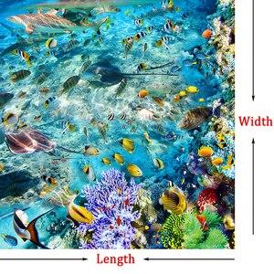 Image 4 - Custom Flooring Mural Wallpaper Undersea World Fish Coral Toilets Bathroom Bedroom 3D Floor Murals PVC Waterproof Self adhesive