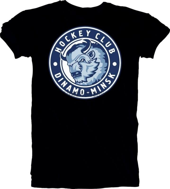 HC Dinamo Minsk KHL Belarus Russian Professional Hockey  T-Shirt NEW vintage B8