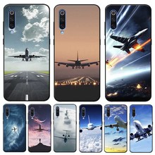 Aircraft Airplane fly travel Cover for xiaomi  mi 9 9t se 8 pocophone f1 mix 3 Clear Soft Silicone Phone Case