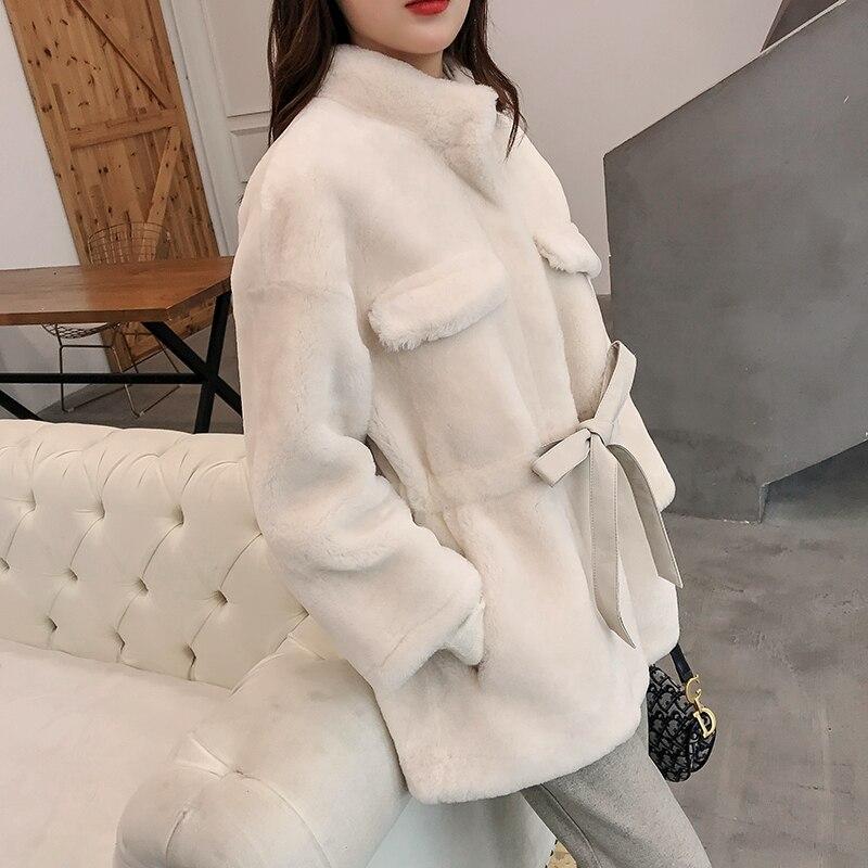 Wool Jacket Autumn Winter Coat Women Clothes 2020 Real Fur Coat Streetwear Korean Vintage Women Tops Sheep Shearling ZT3161