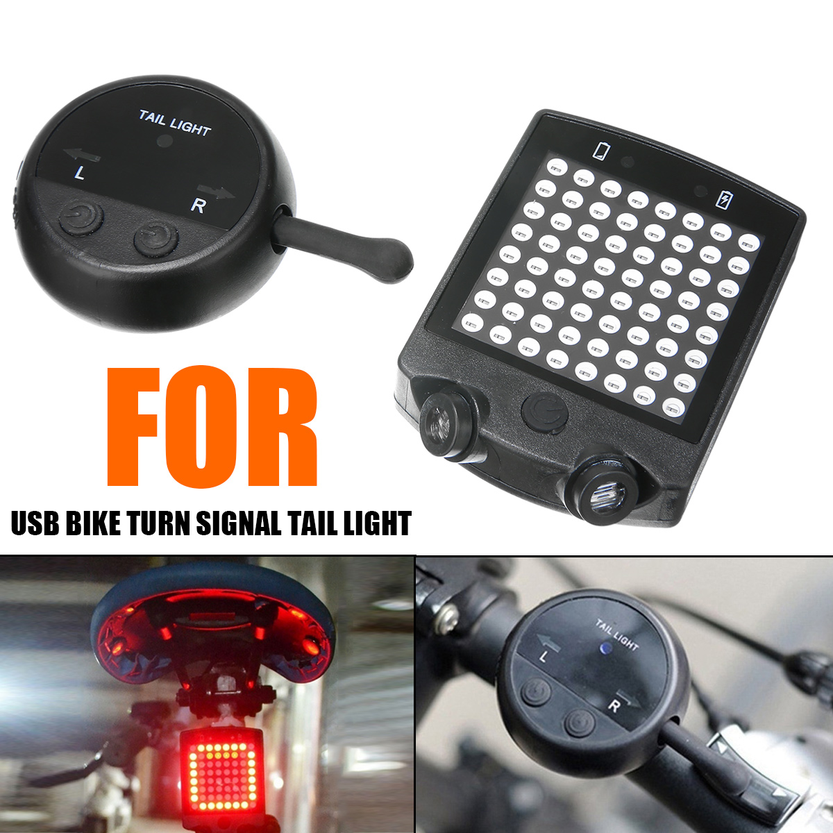 Mayitr 1set 64 LED Laser Bicycle Rear Tail Light...