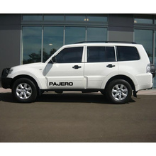 car sticker 1pc tail windon side door hood rear trunk vinyls accessories decals custom for mitsubishi pajero