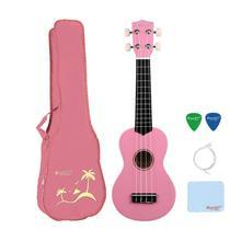 StrongWind 21 дюймов сопрано акустическая укулеле 4 нейлоновые струны Ukelele розовый мини Гавайский гитарный инструмент для начинающих Отправка подарков