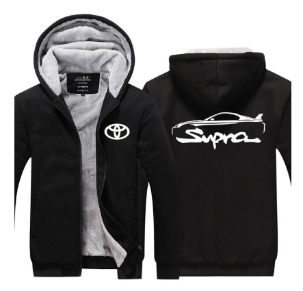 สำหรับToyota Supra Hoodies Thickenแจ็คเก็ตผ้าขนสัตว์ขนแกะPullover Man Coatเสื้อM