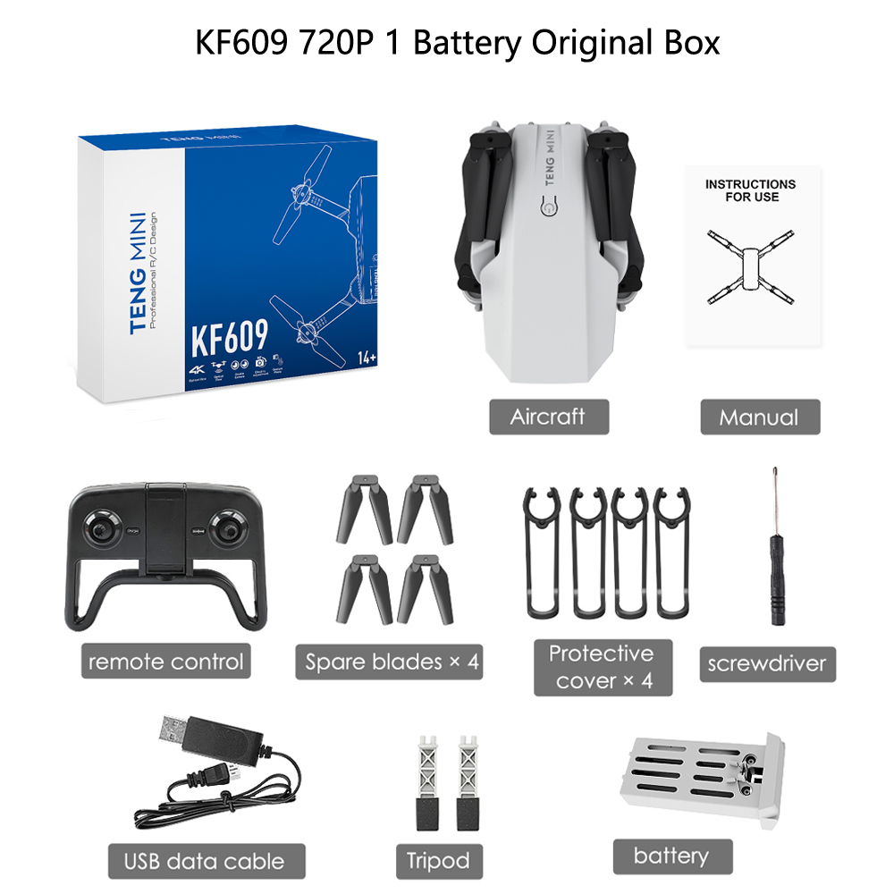 LAUMOX KF609 drone HD 720P 4k Camera WiFi Fpv With Video live recording height keeping drone Mini Foldable Quadcopter VS M71