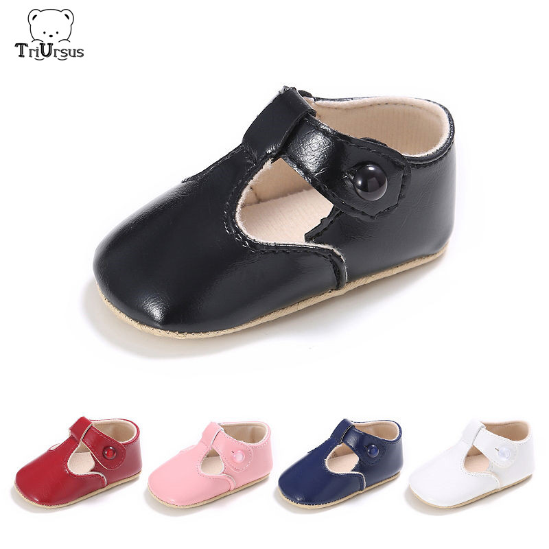 Toddler Girls Shoes First Step Pu Leather Solid Baby Girl Crib Shoes Babe Infant Toddler Girl Ballet Blue Mary Jane Shoes 0-18M