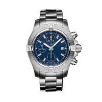2021 nuevo vengador II 1884 relojes de cuarzo de cronógrafo de acero inoxidable pulsera de cristal de zafiro Negro Azul de deporte de cuero