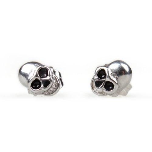 1 Pair Stainless Steel Skull Goth Punk Stud Earrings 0.31x0.24