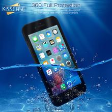 KISSCASE wodoodporna 360 miękkiego silikonu etui na telefony dla iPhone 7 pokrywa 5S 6 5 6s X XS XR 8 7 Plus odblokowany futerał na telefon torba pływająca tanie tanio Matowy Przezroczysty Zwykły Pokrowiec 100 Waterproof Phone Case+Fingerprint Unlock+Accurate Hole for iphone7 Odporna na brud