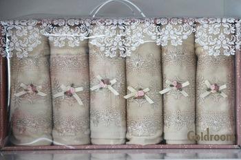 Francuski koronki 6 sztuk zapakowane ręcznik 461401194 tanie i dobre opinie
