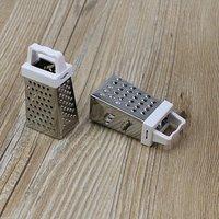Ralador de aço inoxidável todo redondo mini multi função retalhadora vertical plano máquina de moer|Cortador manual|Casa e Jardim -
