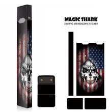 Magic Shark 2019 High Quality USA Flag Skull Bumpy Sticker PVC for Juul Skin Sticker for Juul E Electronic Cigarette original kamry xpod kit 0 8ml 1 4ohm ceramic core 280mah cartridge pod mod vs juul electronic cigarette
