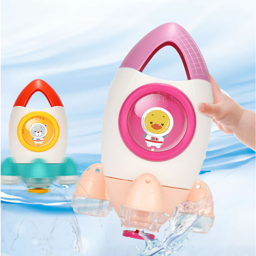 Children Bathroom Bath Toys Rotating Rocket Water Spray Baby Beach Play Toy  Clockwork Play Water In The Bathroom Toy
