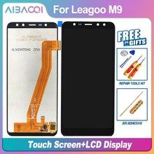 AiBaoQi yeni orijinal 5.5 inç dokunmatik ekran + 1280X640 lcd ekran meclisi değiştirme Leagoo M9 Android 7.0 MT6580A telefon
