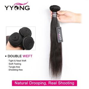 """Image 3 - YYONG saç brezilyalı düz paketler % 100% İnsan saç Remy saç örgü 1/3/ 4 demetleri anlaşma doğal renk 8 """" 30"""" saç ekleme"""
