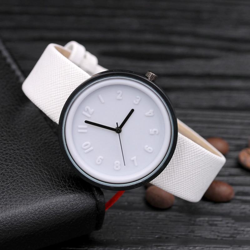 Luxury Brand Fashion Women Watches Unisex Simple Fashion Number Watches Quartz Canvas Belt Wrist Watch Relogio Masculino
