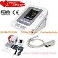 Цифровой монитор артериального давления с цветным ЖК-дисплеем, по для ПК, датчик SPO2 + 4 манжеты (для взрослых, детей, педиатрический, для новор...