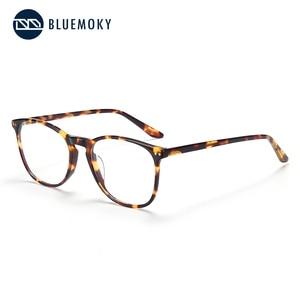 Image 3 - BLUEMOKY Acetate Prescription Glasses for Women Men Square Optical Myopia Spectacles Frames Anti Blue Light Ray Computer Eyewear
