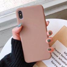Cukierki kolor zwykły silikonowy telefon etui dla iphone #8217 a x XS Max XR 7 8 Plus 6 6S Plus przypadki iPhone 11 Pro Max Solid Color miękkie etui tanie tanio PINDOY Aneks Skrzynki iPhone 7 silicone case Odporna na brud Anti-knock Apple iphone ów Iphone 6 Iphone 6 plus IPHONE 6S