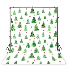 HUAYI white backdrop with green pine cartoon stick figure background studio props photobooth girl birthday photo scene XT-6929 cheap Thin Vinyl Spray Painted floral
