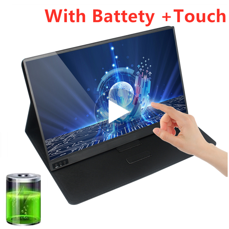 Gaming LCD Monitor Touch Screen Portable 15.6 Inch 1920*1080P IPS HD HDMI USB Type C  For Laptop  DEX XBOX Switch PS4
