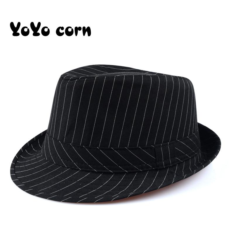 Yoyocorn-sombrero de copa de hierba para hombre, sombrero de Sol de viento británico, sombrero de caballero, sombrero de moda retro para mujer de mediana edad, gorra de jazz inglés