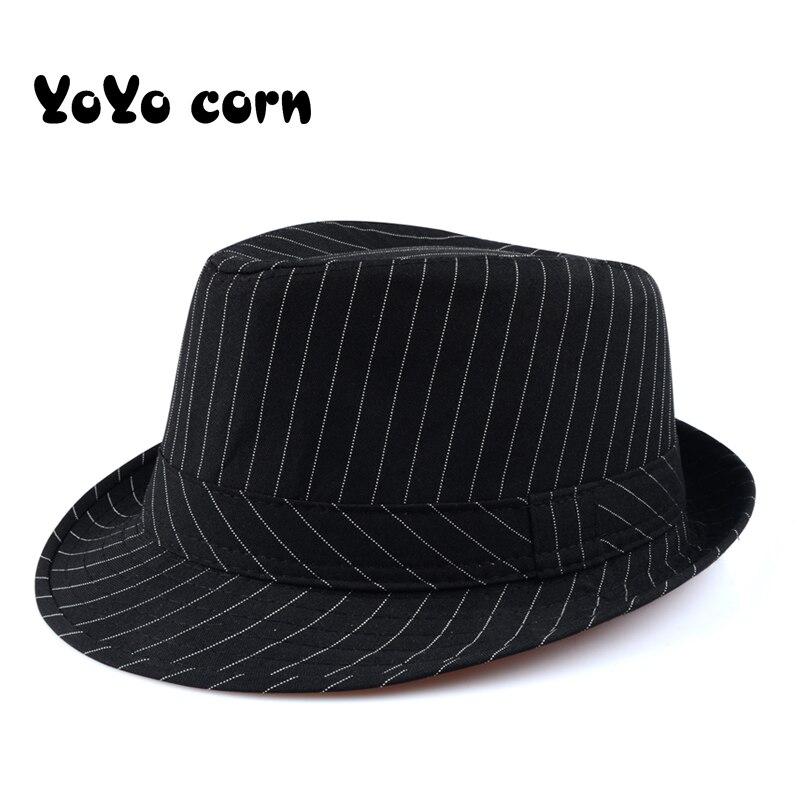 Yoyocorn Grass Top Hat British Wind Summer Sun Hat Men's Gentleman Hat Fashion Retro Lady  Middle And Old Age English  Jazz Cap