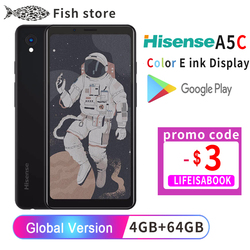 Google Play Hisense A5C Android 9.0 Smart Phone Muilt-Language Color Eink Display Protect eye Ebook Reader Kindle yota facenote