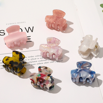 Hair Claw Clips Barrette Clamp Jelly Colors Acrylic Ponytail Crab Girls Hair Shinny Hairpin Hair Styling Accessories For Women chimera pearl hair claw large clip cloth flower crystal jaw hair crab clamp women acrylic hairgrip barrette vintage hair jewelry