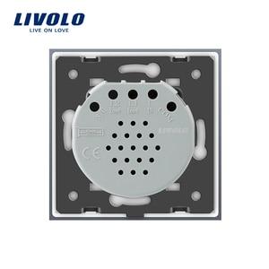 Image 5 - Livolo האיחוד האירופי תקן 2 כנופיית 1 דרך קיר מגע אור מתג, קיר כוח חיישן מתג, 7 צבעים קריסטל זכוכית פנל, עם led תאורה אחורית