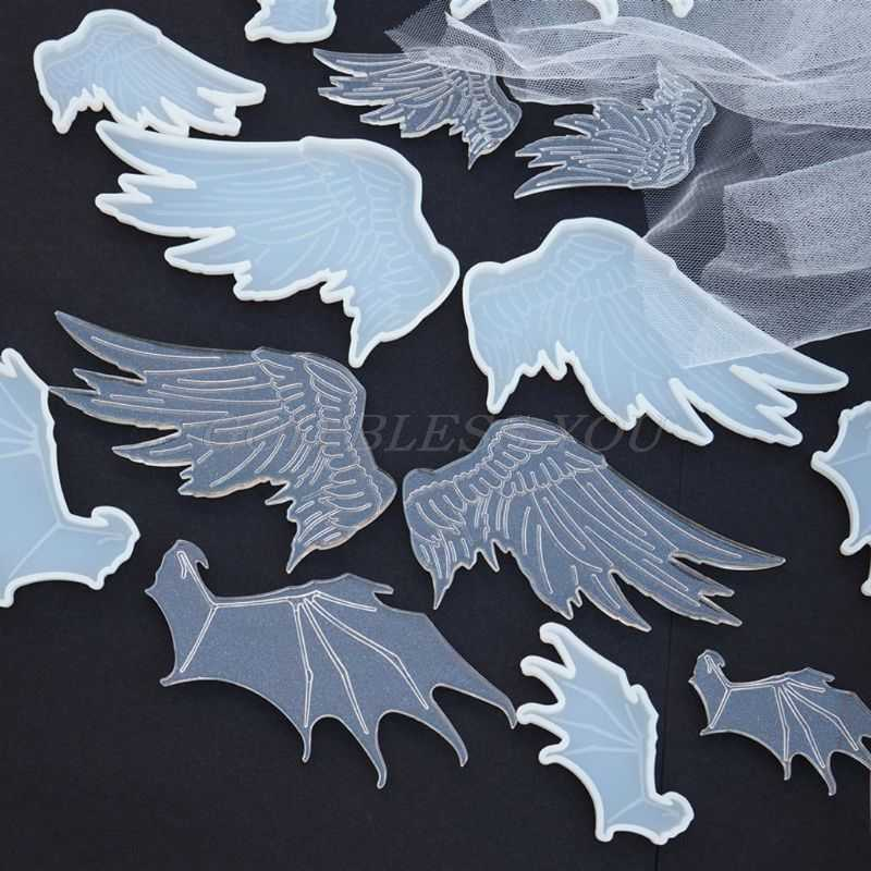 Angel Wing Silicone Resin Fondant Mold for Jewelry Pendant Making Tool DIY Mould