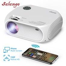 Salange HD Mini projektor Wifi do projektorów wideo z domu Led P58 1280x720P projektor telefon przenośny 3500 lumenów kino 3D film