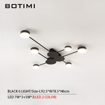 BOTIMI Novelty Metal Irregular Ceiling Lights For Foyer Black Ceiling Lamp Golden Surface Mounted Bedroom Lighting Fixture 14