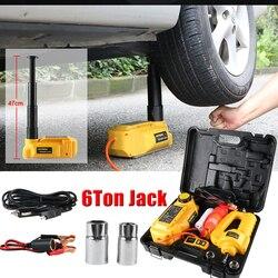 Autool 6 t 12 v jack para jaques do carro jack hidráulico levantamento 47cm altura ferramenta de reparo do pneu de desmontagem automática com chave elétrica