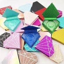 10/30/50個卸売ダイヤモンドつけまつげ包装ボックス偽3dミンクまつげボックスフェイクcils磁気ケースまつげ空