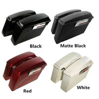 Motorcycle Hard Saddle bags Trunk w/Lid Latch & Key For Harley Touring Road King Electra Street Glide FLHR 94 13