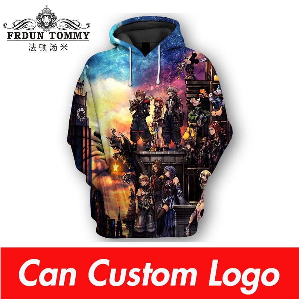 TJ Garment 2019 3D Kingdom Heart Hoodies Men/Women Summer Harajuku Hoodies Sweatshirts Hot Games Kingdom Heart 3D Hoodies