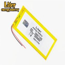 3857100 3.7 2600 V 3555100 mah 4055100 Li-ion bateria Tablet pc Para 7,8, bateria lithiumion Polímero 9 polegada tablet PC de Alta Qualidade