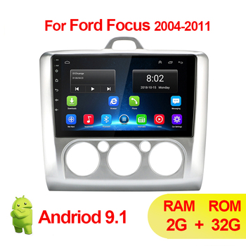 2 Din Android 9.1 Car Radio Multimedia MP5 Player For Ford Focus EXI MT 2 3 Mk2 2004 2005 2006 2007 2008 2009-2011 Autoradio GPS image