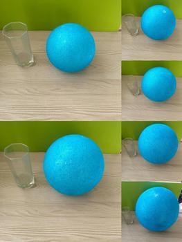 Luz Azul poliestireno espuma bola fiesta boda festival Escenario casa decoración DIY hecho a mano material 15-30cm (diámetro)