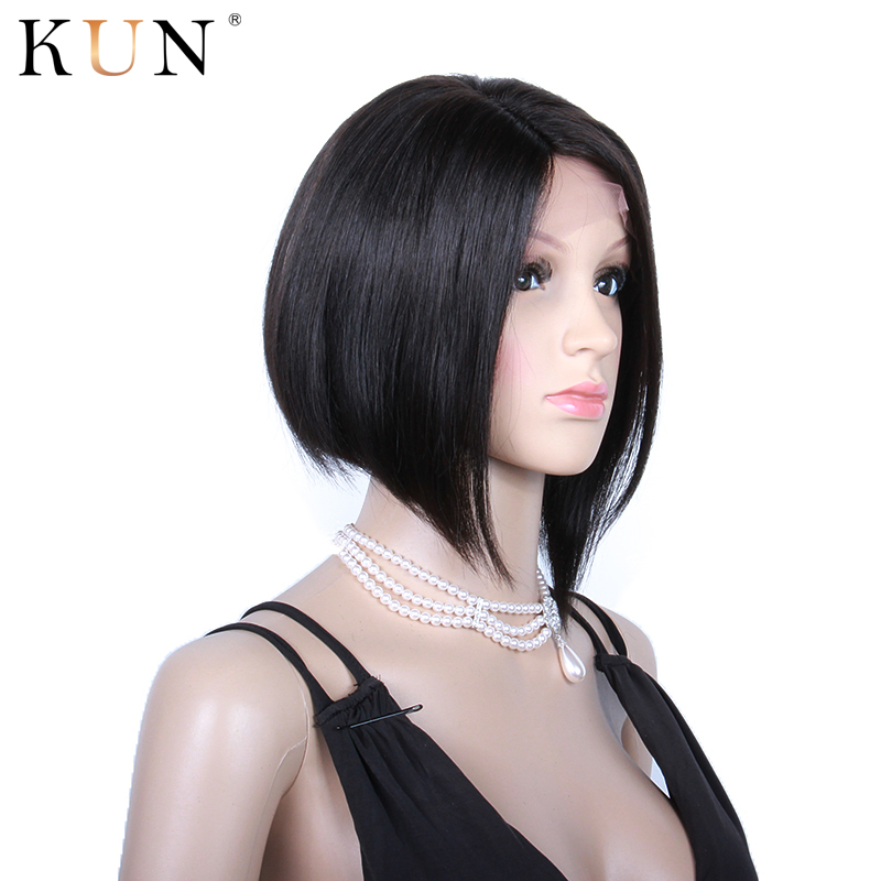 Short Human Hair Wigs Side Part 13x6 Bob Lace Front Wigs Star Style Hair Cut 150% Remy Lace Front Human Hair Wigs Pre Plucked