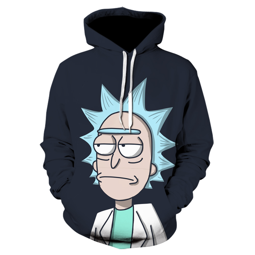 2020 New 3D stranger things Sweatshirts Men/Women Print Rick Morty Brand Cartoon Hoody unisex sweatwear anime hoodie