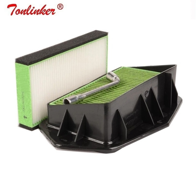 3 holes Cabin Air Filter For Vw Passat Golf Touran Audi Skoda Octavia Yeti Seat Altea Leon Efficient Anti PM2.5 External Filter