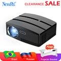 Newpal mini projetor 3d cinema em casa android wifi 1800 lúmen 720 p beamer led proyector gp80 up brasil russiabracket