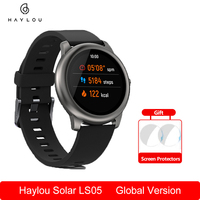 Xiaomi Haylou Solar LS05 Smart Uhr Sport Metall Runde Fall Herz Rate Schlaf Monitor SmartWatch Globale Version Youpin Dropping