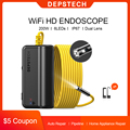 DEPSTECH Wireless Endoscope Dual Lens Borescope with 6 Adjustable LED Zoomable Inspection Camera for Android & iOS Smartphone