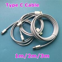 Cable USB tipo C para Samsung S10, S9, S8, Cable de datos de cargador tipo C para Redmi Note 8 pro, Android, 1m, 2m, 3m, 100 unids/lote