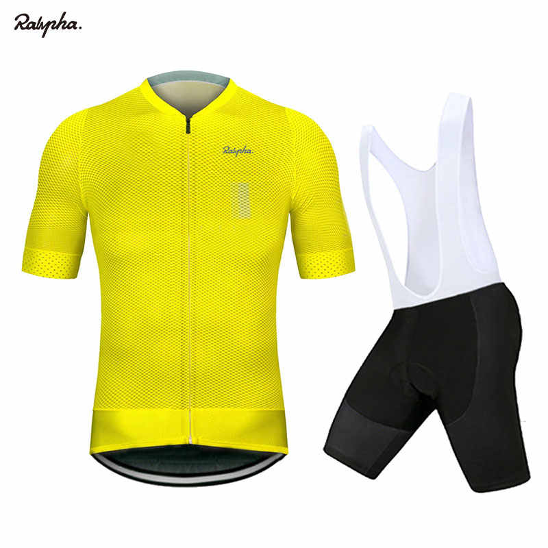 Raphaing Cycling Jersey Short Sleeve 2019 Pro Team Men Bike Bib Shorts Clothes Maillot Cycling Sets MTB Clothing Ropa Ciclismo