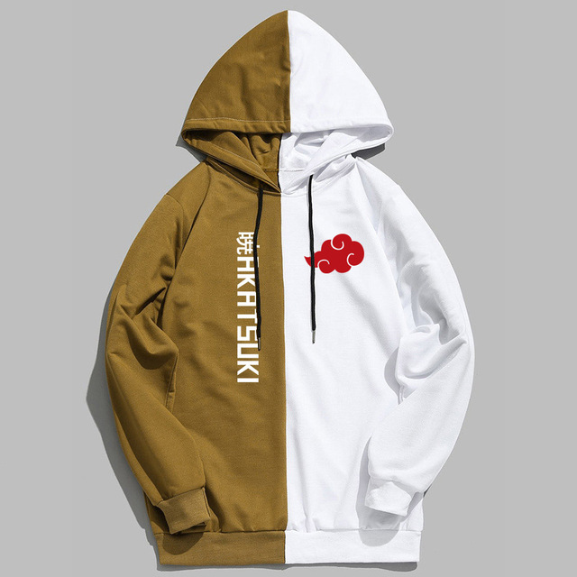 New Sale Double Color print Leisure style Hoodie Naruto Akatsuki Printing Pullover Sweatshirt Harajuku Anime Hoodies